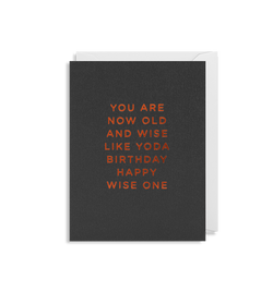 You are Now Old and Wise Like Yoda Birthday Happy Wise One - Lagom Design