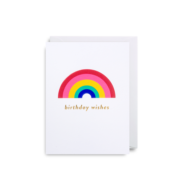 Rainbow Wishes: Birthday Card