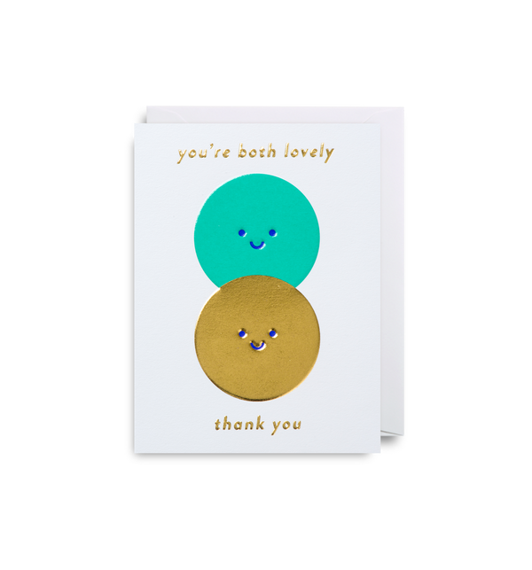 You're Both Lovely: Thank You Card
