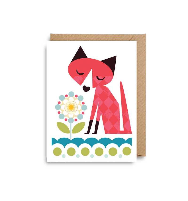 Fox Mini Card - Lagom Design
