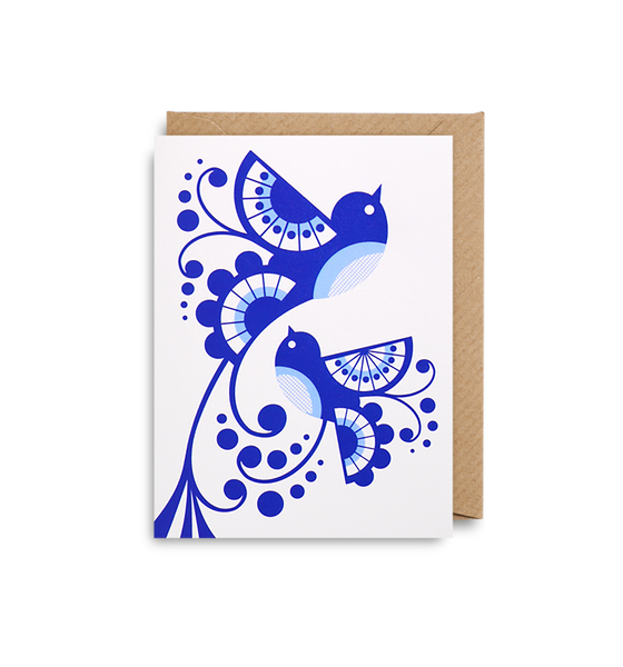 Blue Birds Mini Card - Lagom Design