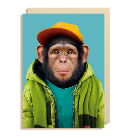 Common Chimpanzee - Pan Troglodytes Greeting Card
