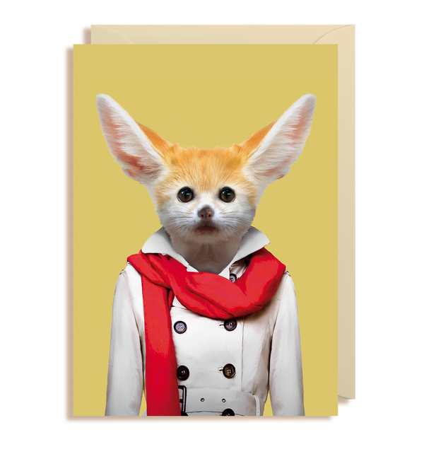 Fennec Fox - Vulpes Zerda Greeting Card - Lagom Design