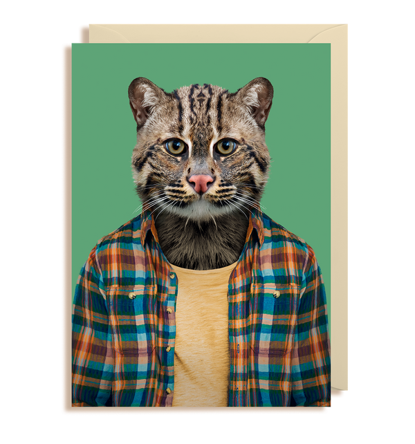 Fishing Cat - Prionailurus Viverrinus Greeting Card - Lagom Design