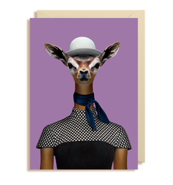 Gerenuk - Litocranius Walleri Greeting Card - Lagom Design