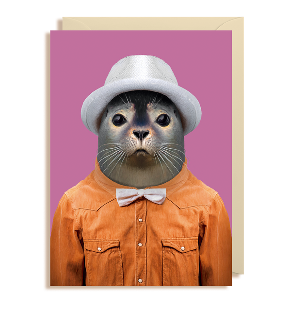 Harbor Seal - Phoca Vitulina Greeting Card - Lagom Design