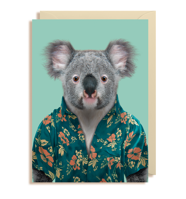 Koala - Phascolarctos Cinereus Greeting Card - Lagom Design