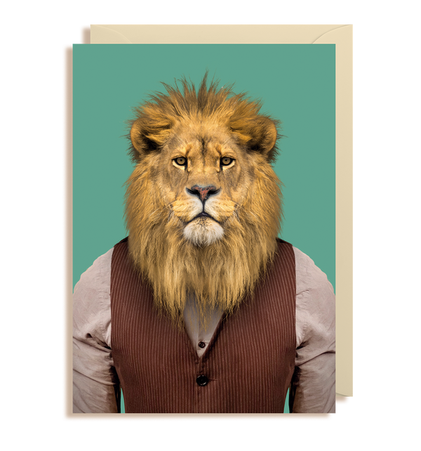 Lion - Panthera Leo Greeting Card - Lagom Design