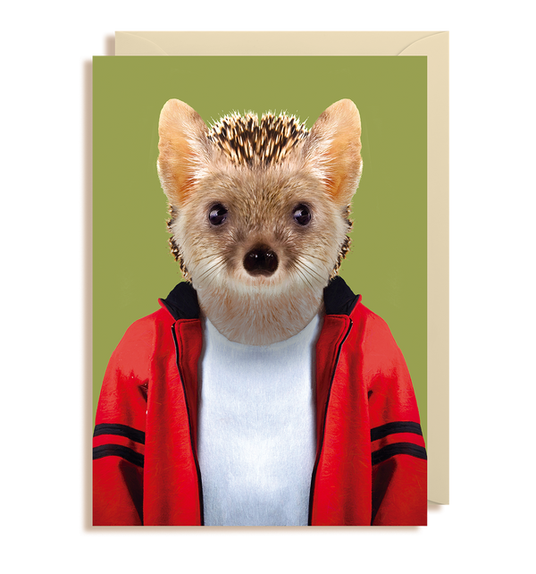 Long-eared Hedgehog - Hemiechinus Auritus Greeting Card - Lagom Design