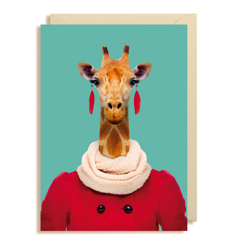 Northern Giraffe - Giraffa Camelopardalis Greeting Card - Lagom Design