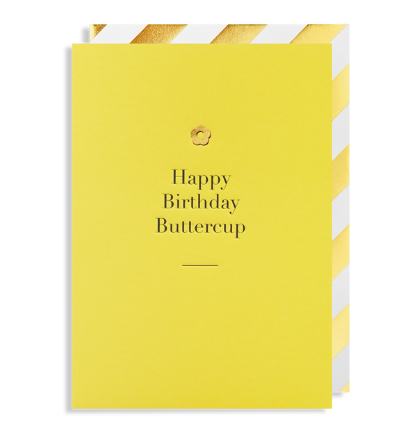 Happy Birthday Buttercup Greeting Card - Lagom Design