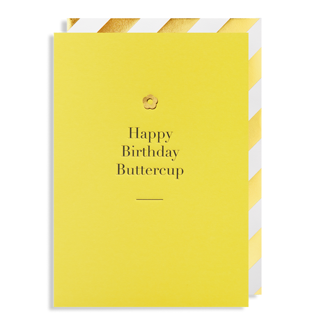 Happy Birthday Buttercup Greeting Card