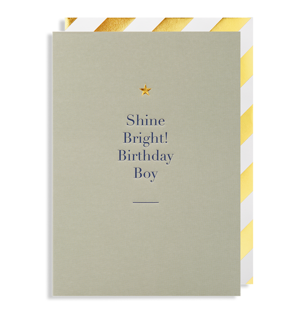 Shine Bright! Birthday Boy - Lagom Design