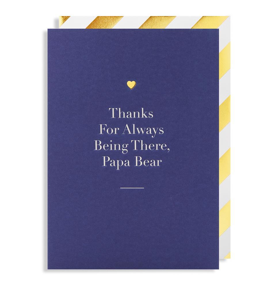 Thanks for Always Being There, Papa Bear Greeting Card