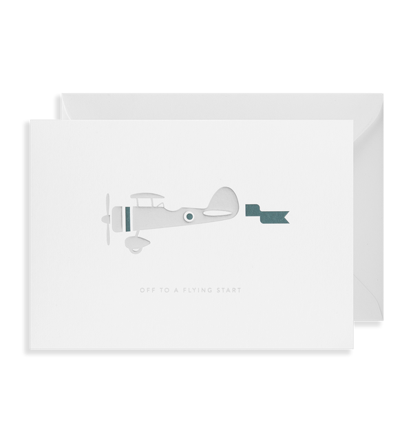 Off to a Flying Start Greeting Card - Lagom Design