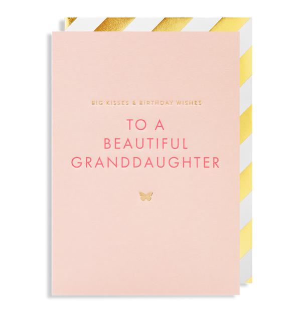 Big Kisses & Birthday Wishes To a Beautiful Granddaughter - Lagom Design
