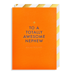 To A Totally Awesome Nephew On Your Birthday - Lagom Design