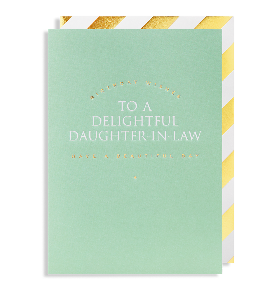 Birthday Wishes To A Delightful Daughter-in-law Have a Beautiful Day Greeting Card - Lagom Design