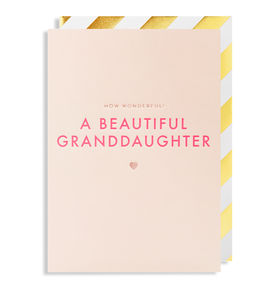 How Wonderful! A Beautiful New Granddaughter Greeting Card - Lagom Design