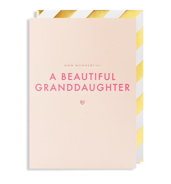 How Wonderful! A Beautiful New Granddaughter - Lagom Design