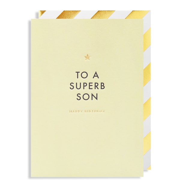 To A Superb Son Happy Birthday - Lagom Design