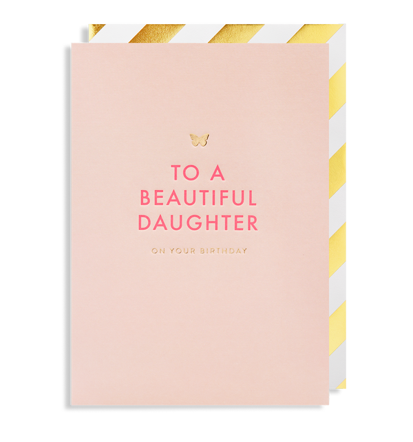 To A Beautiful Daughter On Your Birthday - Lagom Design