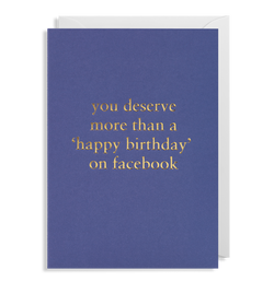 You Deserve More Than 'Happy Birthday' on Facebook - Lagom Design
