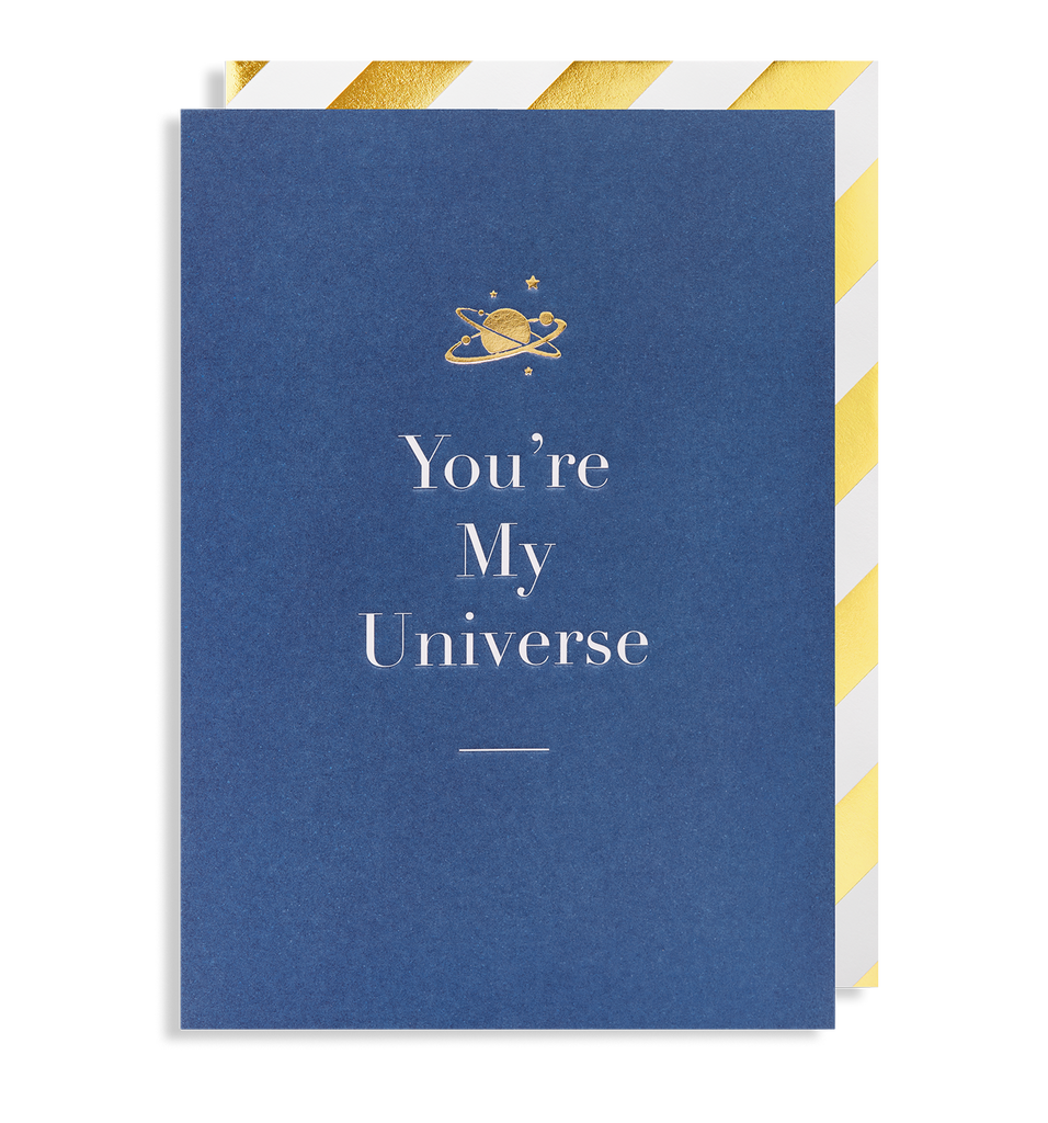 You're My Universe Greeting Card - Lagom Design