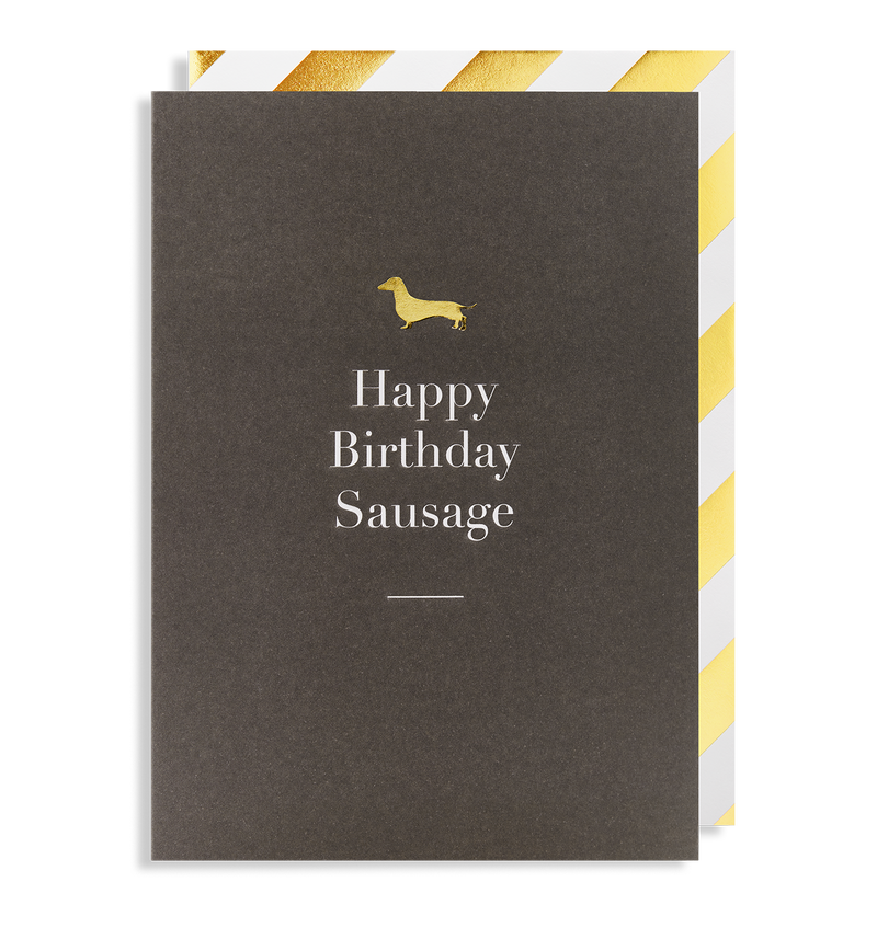 Happy Birthday Sausage Greeting Card - Lagom Design