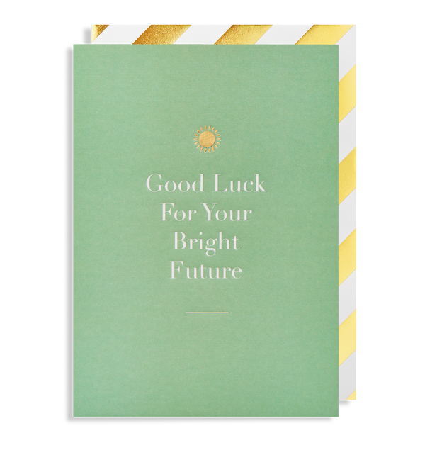 Good Luck for your Bright Future Greeting Card - Lagom Design