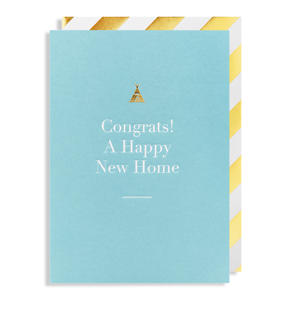 Congrats! a Happy New Home Greeting Card - Lagom Design