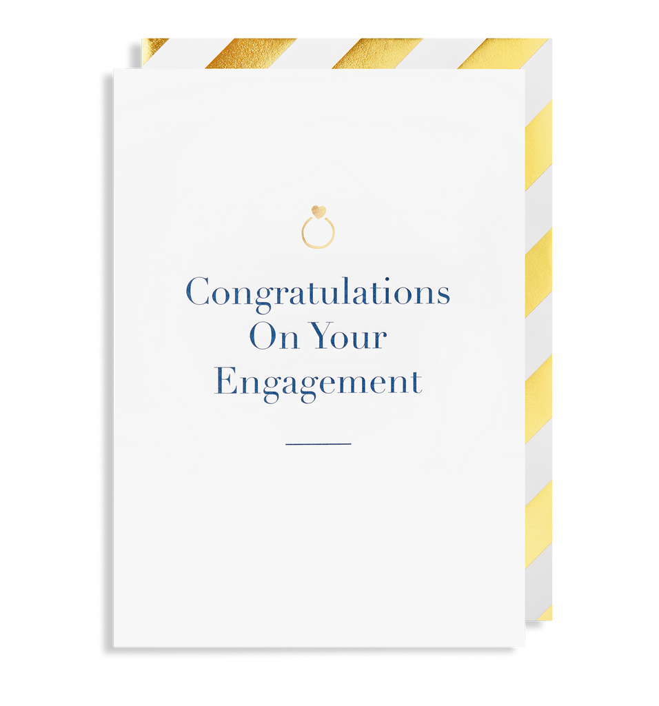 Congratulations On Your  Engagement Greeting Card - Lagom Design