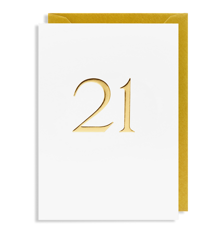 21 Greeting Card