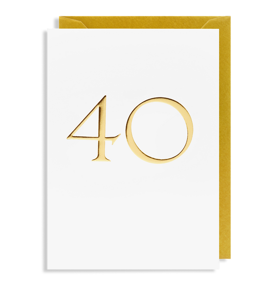 40 Greeting Card - Lagom Design