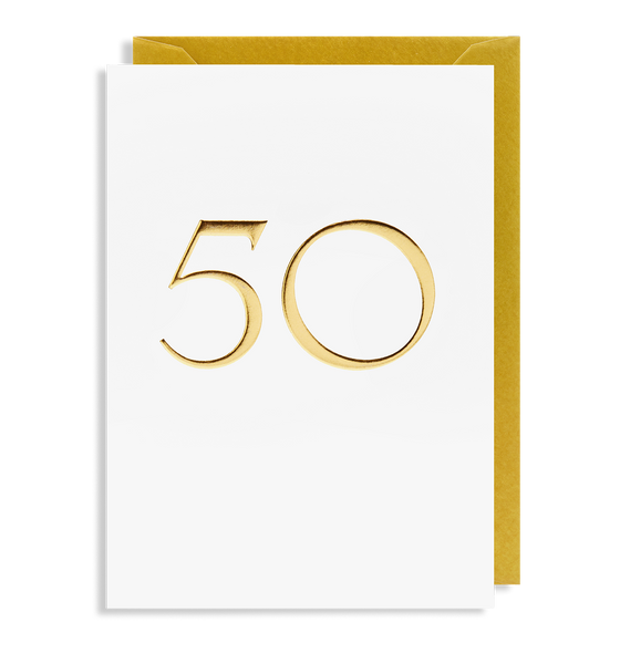 50 Greeting Card - Lagom Design