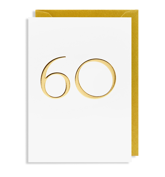 60 Greeting Card - Lagom Design