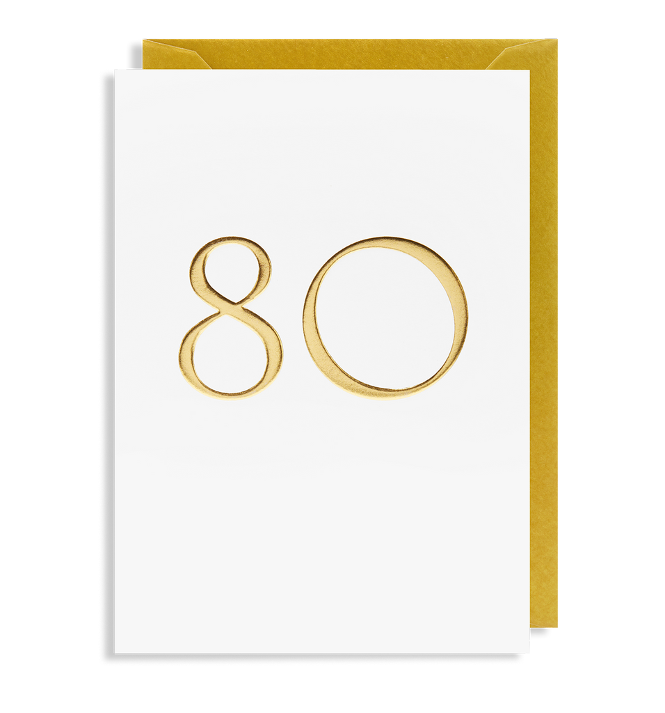 80 Greeting Card - Lagom Design