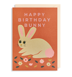 Happy Birthday Bunny Greeting Card - Lagom Design