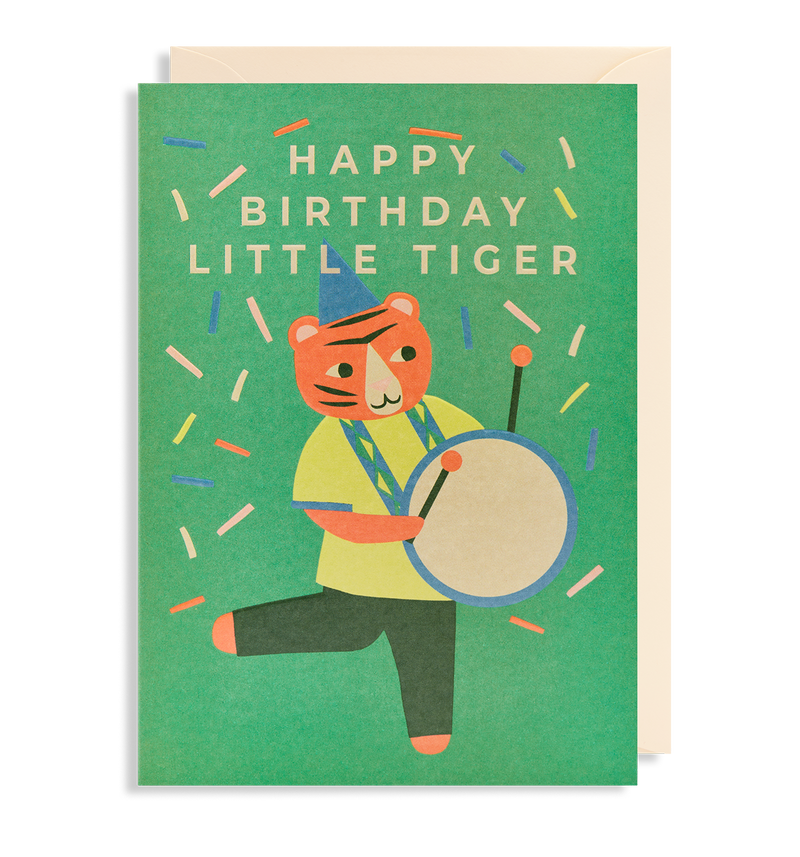 Happy Birthday Little Tiger Greeting Card - Lagom Design