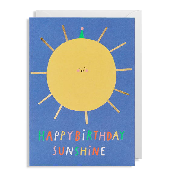 Happy Birthday Sunshine Greeting Card - Lagom Design