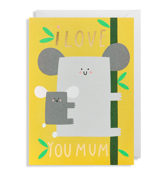 I Love You Mum Greeting Card - Lagom Design