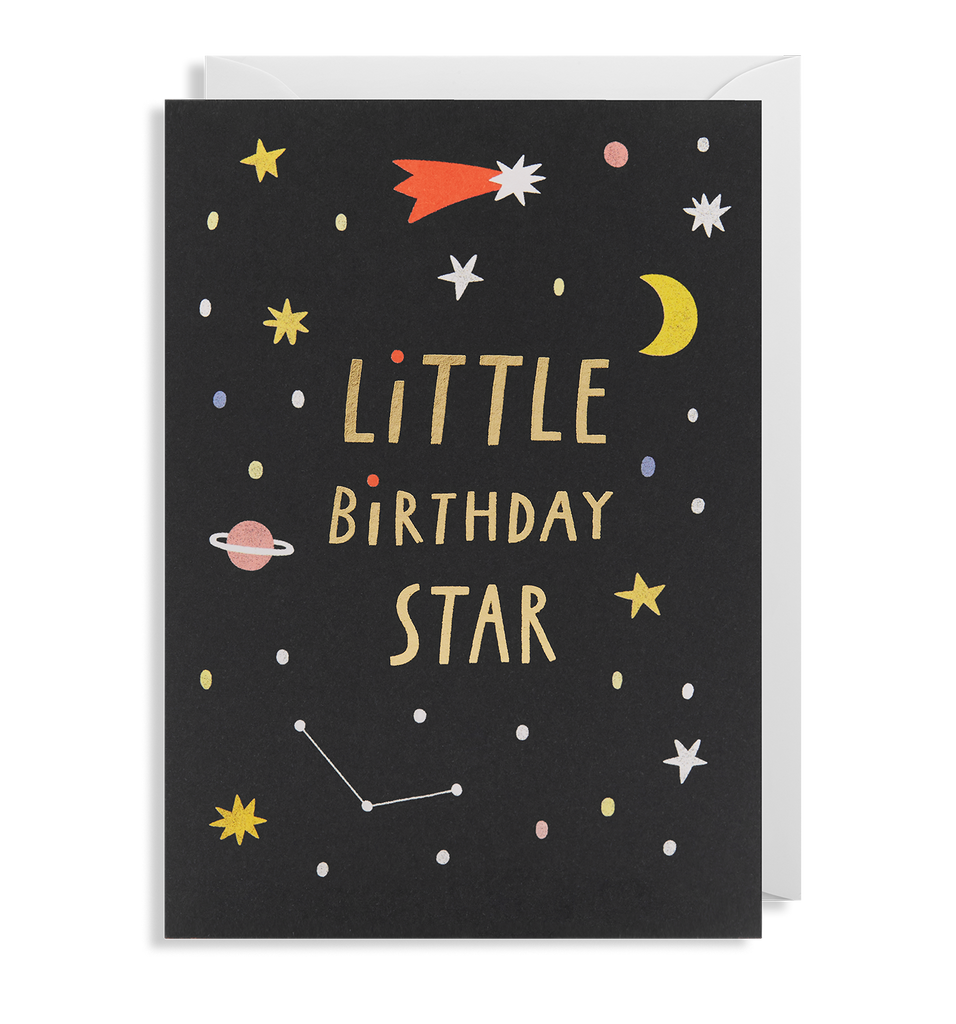Little Birthday Star Greeting Card - Lagom Design