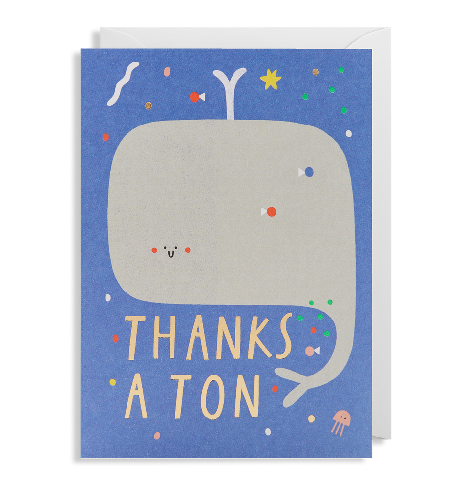 Thanks A Ton Greeting Card