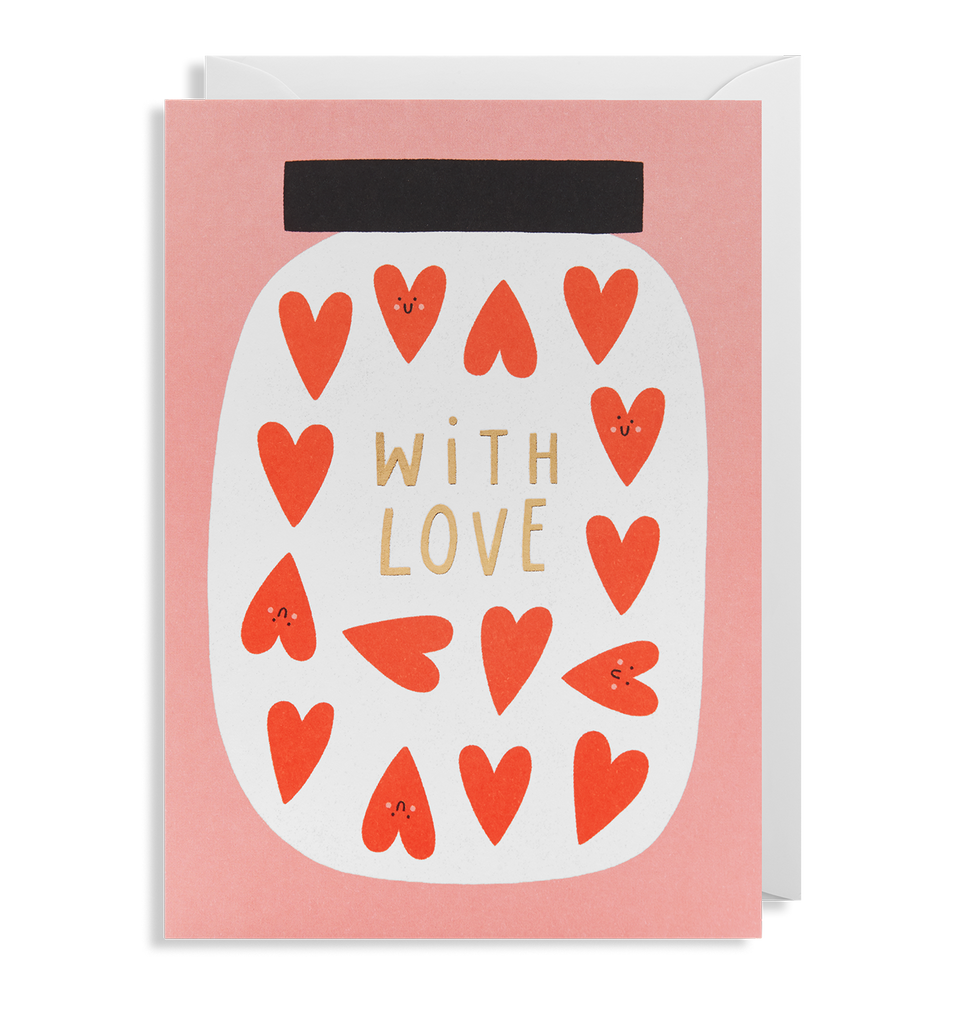 With Love Greeting Card - Lagom Design