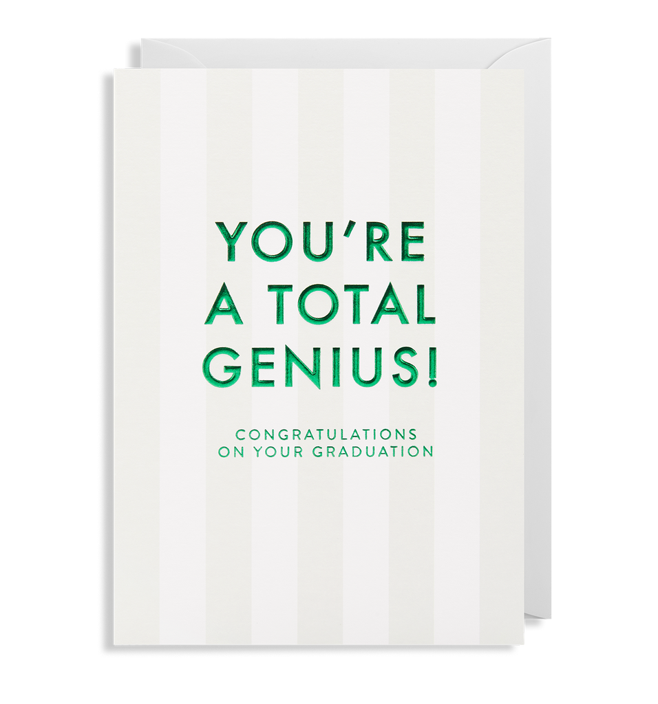 Congratulations On Your Graduation Greeting Card - Lagom Design