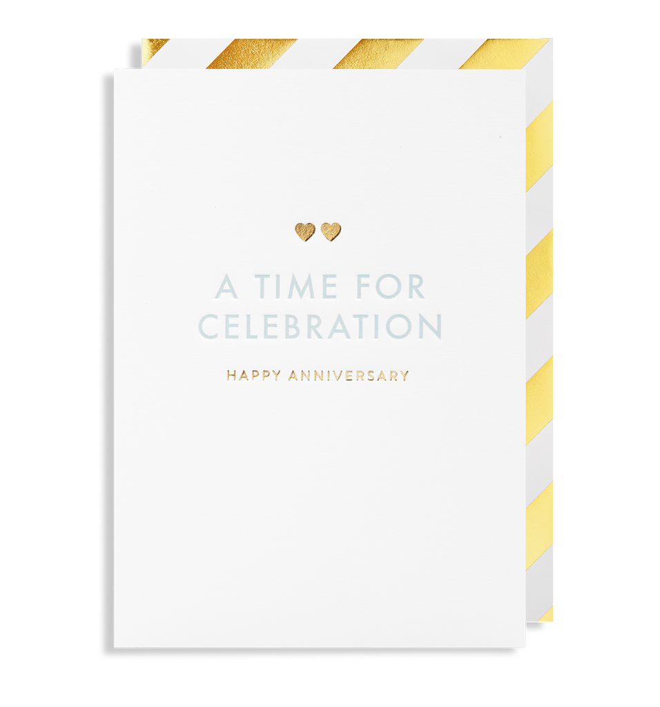 A Time for Celebration Happy Anniversary Greeting Card - Lagom Design