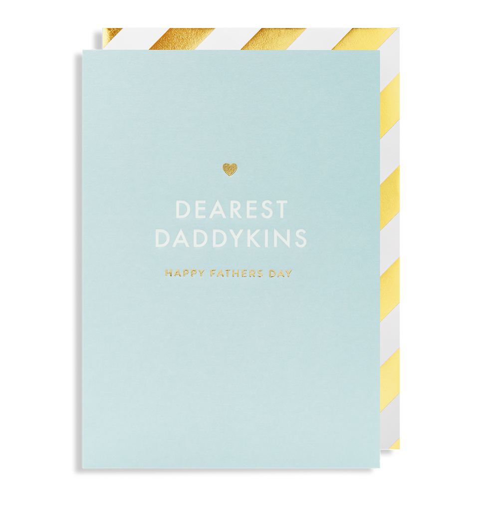Dearest Daddykins Happy Fathers Day Greeting Card - Lagom Design