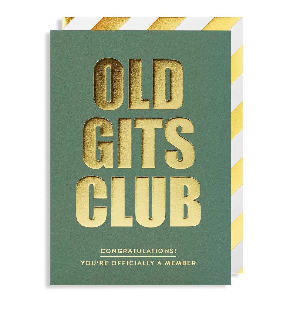 Old Gits Club Greeting Card - Lagom Design