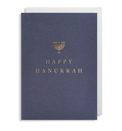 Happy Hanukkah Greeting Card - Lagom Design
