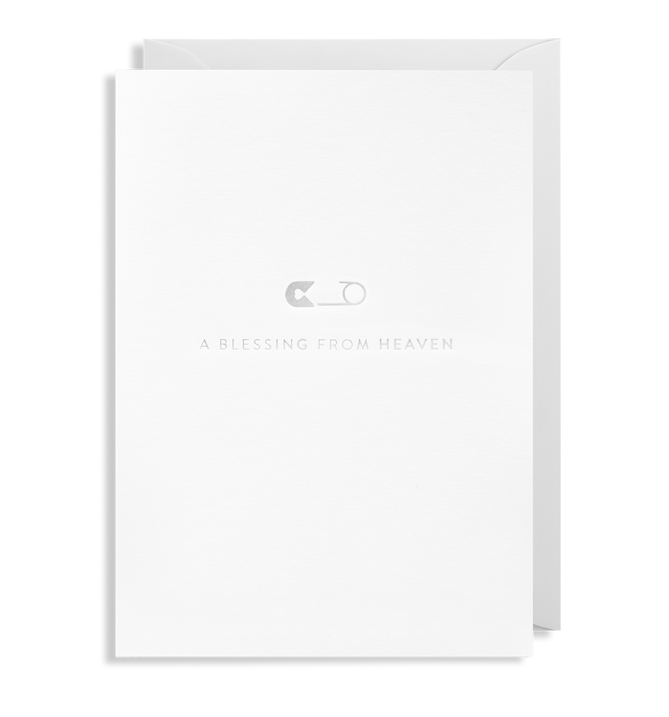 A Blessing From Heaven Greeting Card - Lagom Design